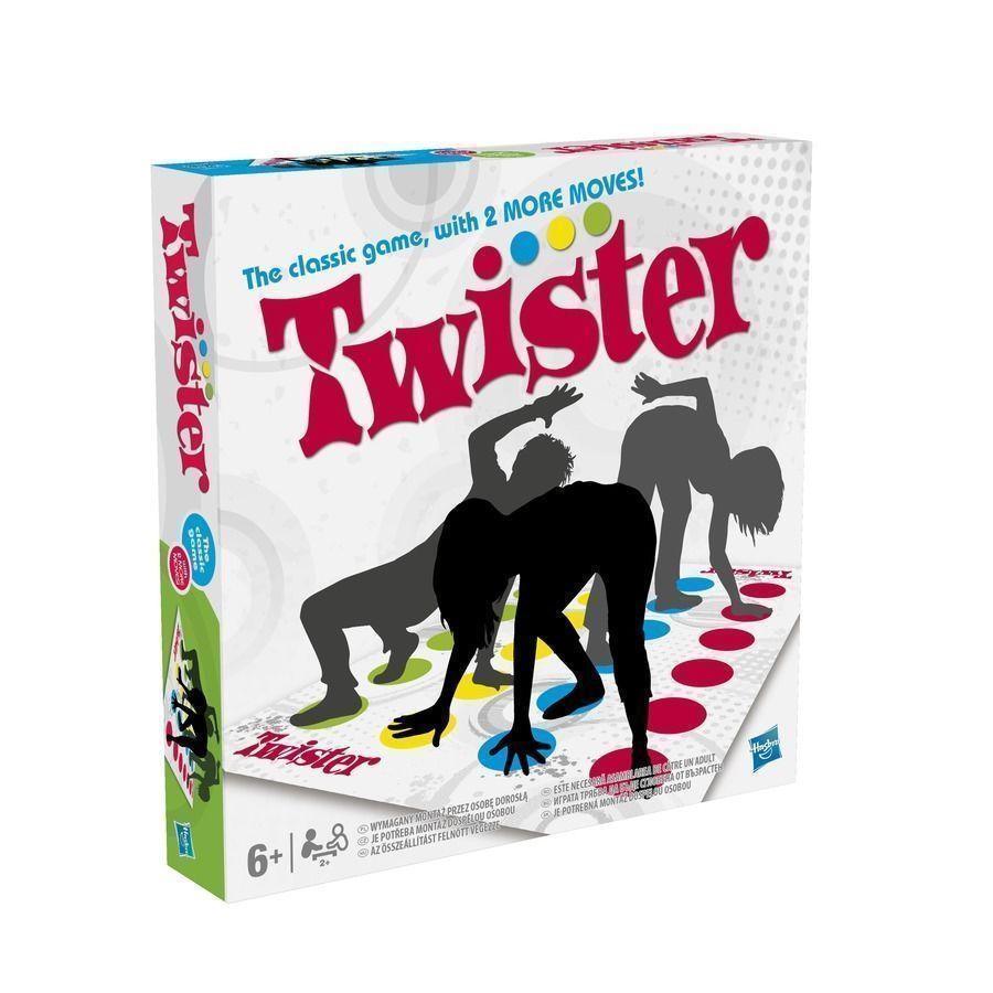 Funny Twister Le jeu classique avec 2 mouvements supplémentaires Hasbro Family Party Games