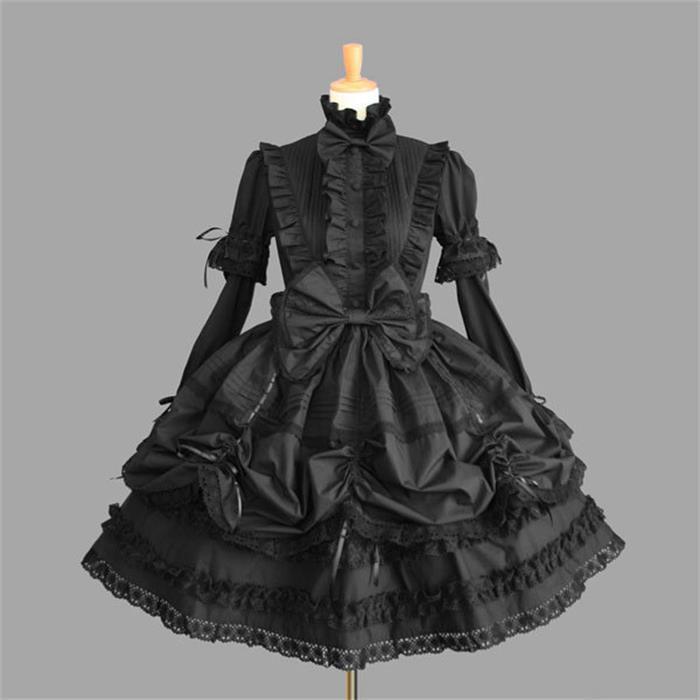 Female Princess Dress Halloween Victorian Gothic Lolita Dress Cosplay Lolita Costume Lady Maid Layered Cosplay Games