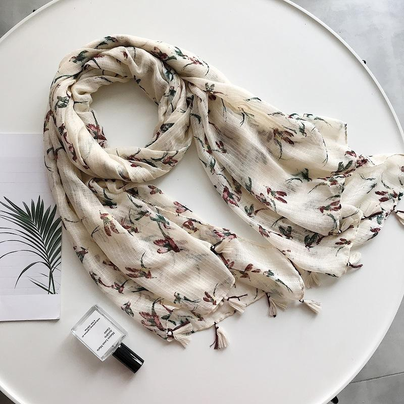 2018 New Ombre Bird Pattern Tassel Scarf Shawls Women Sawllow Print Scarves Wrap Muffler Hijab Wholesale 10pcs/lot Free Shipping