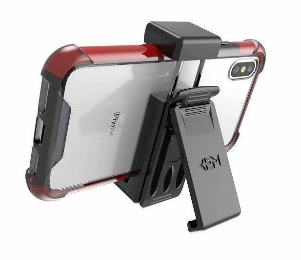 Étui universel avec pince pour ceinture pour téléphone portable iPhone X 8 7