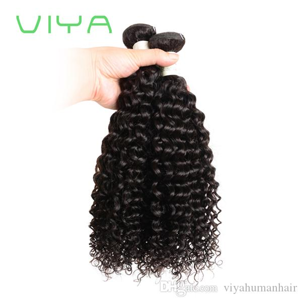 VIYA 8A Grade Virgin Unprocessed Human Hair Brazilian Deep Wave Virgin Hair Brazilian Hair Weave Bundles 3Pcs/Lot