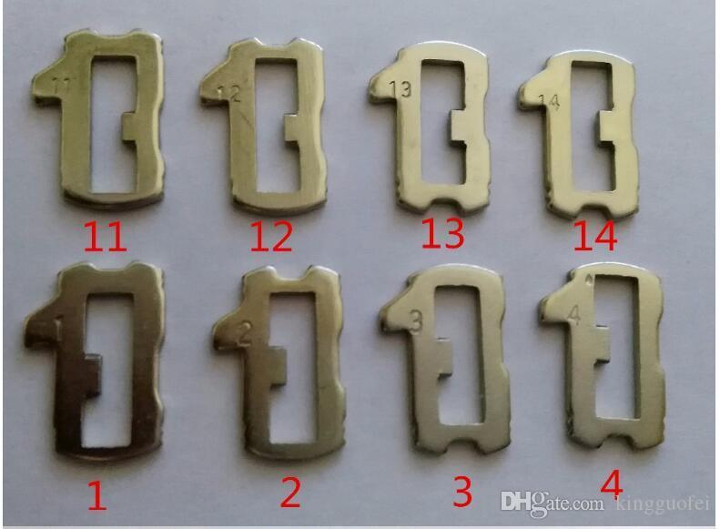 COBRE cerradura del coche de lámina HU66 Placa para VW Volkswagen placa NO 1.2.3.4,11.12.13.14 Cada kits de reparación 25PCS para VW Lock