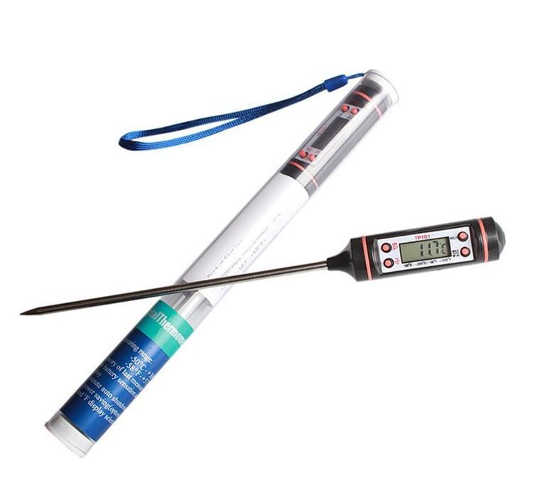 Еда и тип зонд ручки еды печатают электронное барбекю на машинке цифрового дисплея жидкостное пекут метр температуры масла