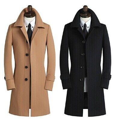 Cachemire simple boutonnage laine, manteau de laine pour hommes, plus la taille S pour trench en laine 9XL toute vente avec livraison gratuite