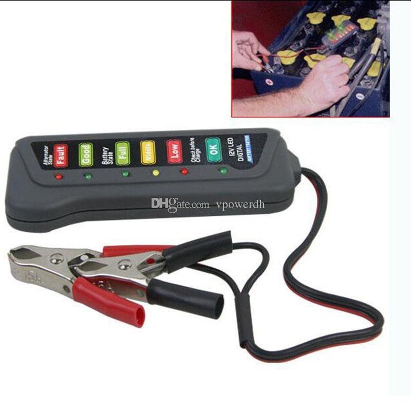 Affichage 6LED d'appareil de contrôle automatique d'alternateur de batterie de 12V Digital pour le camion B00649 de moto de voiture
