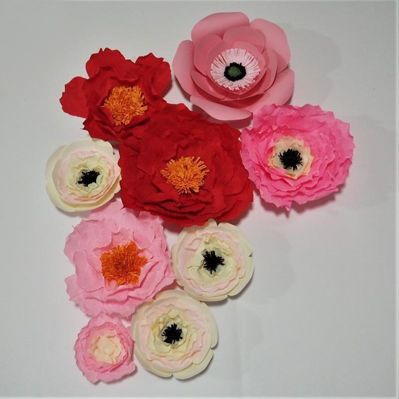 Krep Kağıt Çiçekler Zemin Dev Kağıt Çiçekler Duvar Yapay Çiçek Kreş Doğum Günü Deco El Yapımı Düğün 9 adet Süslemeleri Ev Deco