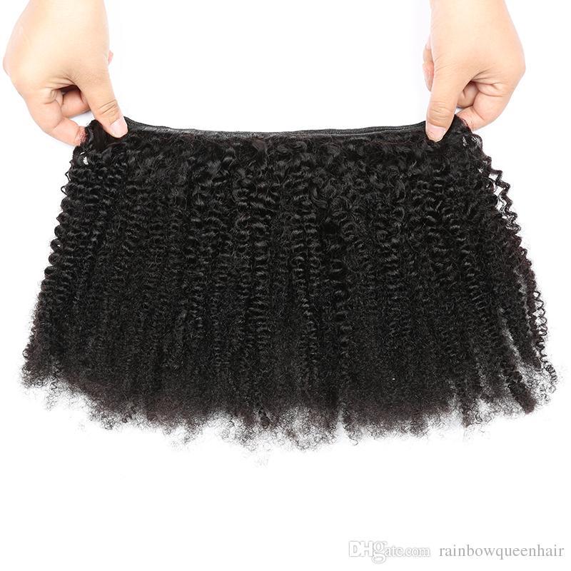 Brazilian Virgin Human Har 4A 4B Human Hair Extension Brazilian Kinky Curl Virgin Hair 3Pcs Afro Kinky Curly Human Hair Weave
