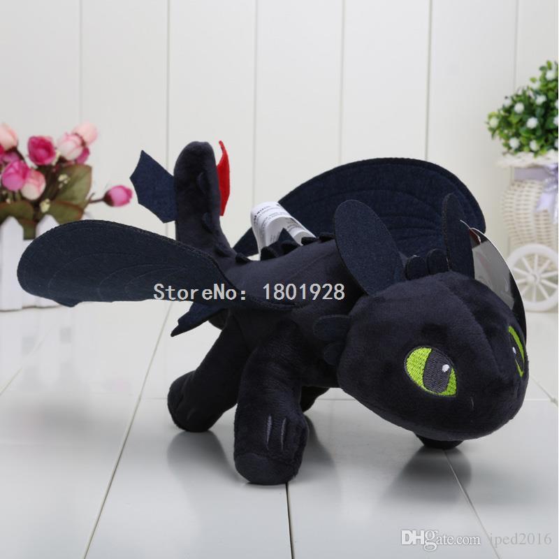 Novo 23 cm COMO TREINAR SEU DRAGÃO PLUSH Desdentado Noite Fúria Brinquedos de pelúcia para crianças boneca