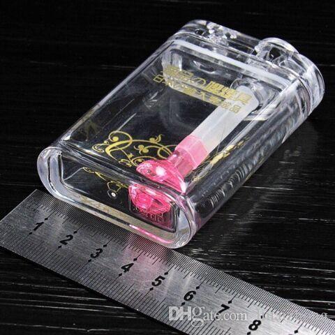 Nuevo estuche de cigarrillos de acrílico de espesamiento de color, accesorios de tubería creativos conjunto completo de accesorios de vidrio Bong
