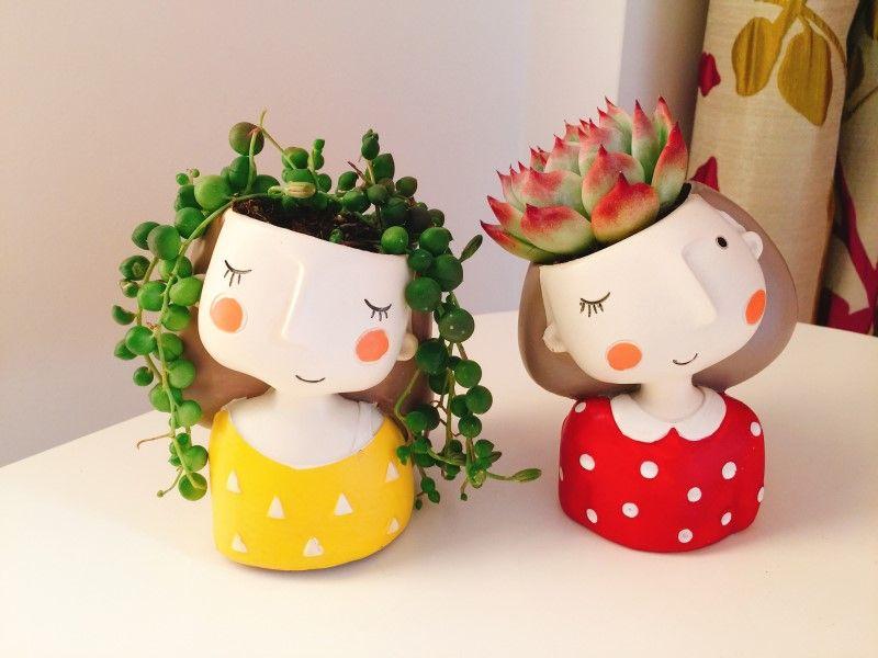 1pcs Small Flowerpot Creat Design Home Garden Mini Bonsai Cactus Planter Pots Succulent Plant Pot Wedding Birthday Gift Ideas free shipping desktop decoration