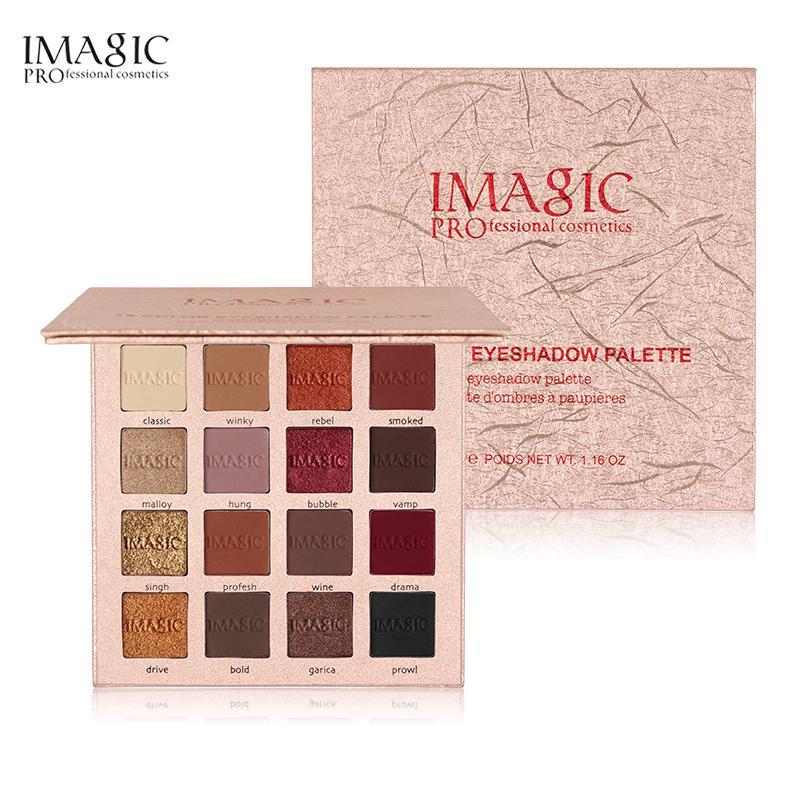 Imagic New Shimmer Eyeshadow 16 Colors Palette Matte Eyeshadow Glitter Palette يشكلون مجموعة الجمال