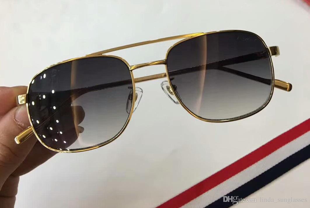 2018 Vintage New Crames Holz Überzogene Numc20183 Sonnenbrille Box in Rim Brillen Slive Santos Gold Sonnenbrille Halbmänner Holz FPNMI