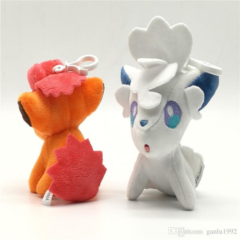 Cartoon Alola Vulpix Doll Lovely Stuffed Animals Soft Toy Pendant Classic Anime Figures Model Birthday Gift For Children 7km YY
