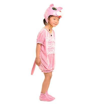 2018 New style children Cosplay Gray wolf White and pink cat Animal perform clothing Boys and girls Dance Conjoined clothes ZM11-27