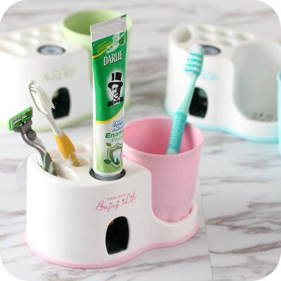 New Creative Automatic Squeezing Toothpaste Tool Toothbrush Holder Washing