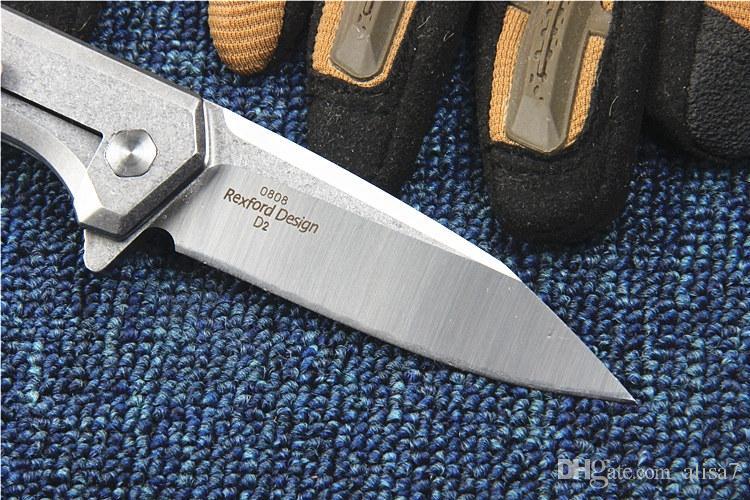 Yeni ZT0808 Flipper Katlama Bıçak D2 Saten Bıçak Taş Yıkama Bitiş Çelik Kol Rulman Hızlı Bıçaklar EDC Gear Açılış