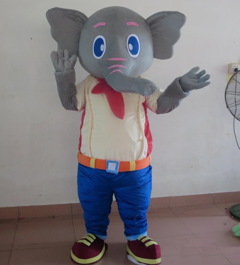 2018 Discount fábrica venda rosa / cinza elefante mascote traje terno para adultos for sale