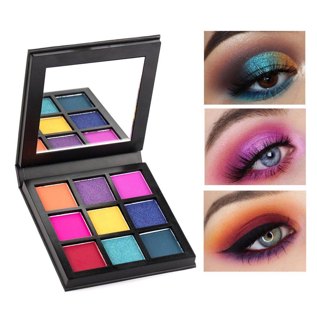 Glitter Eyeshadow Palette 9 Color Pressed Shimmer matte Eye Shadow MakeUp Cosmetic LongLasting eye Palette for beauty