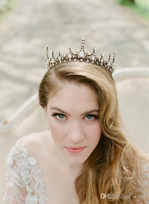 2019 Bridal Crowns Bride Hair Jewelry Crystal Tiara Princess Crown Wedding Tiaras Baroque Birthday Party Wedding Dresses Tiaras Hair Accessories From