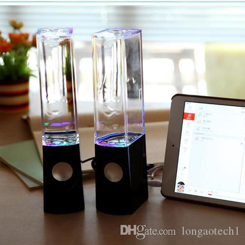Amazon Best Seller Water Dancing Speakers Light Show Water Fountain Speakers LED Music Fountain Amplifier Dancing 3W*2