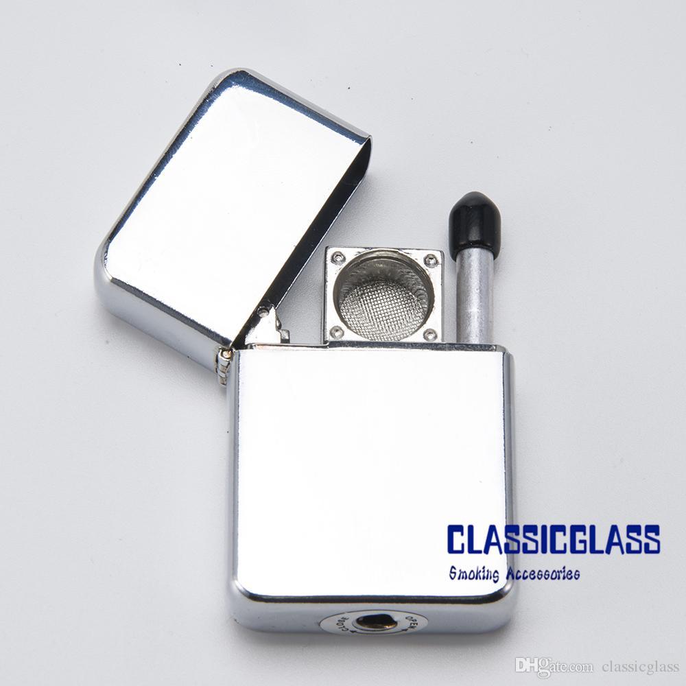 Lichtere pijp zonder afdrukken Designs Smoke Metal Pipes Makkelijk te nemen 1 PC OPP-tas 10 stuks binnendoos