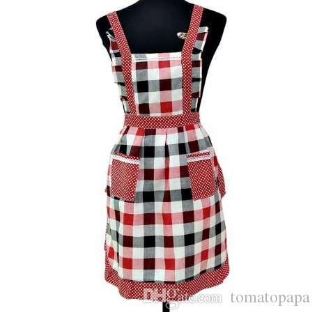 Moda Donna Lady Restaurant Cucina di casa per tasca Cottura Grembiule cotone bavaglino m15