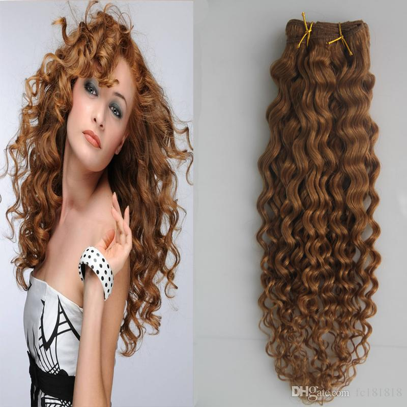 100% nicht Remy Menschenhaarverlängerungen Peruanisches Haar Bundles Tiefe lockige Welle Menschenhaarverlängerungen Remy 1 Bundles 1 Stück Weben