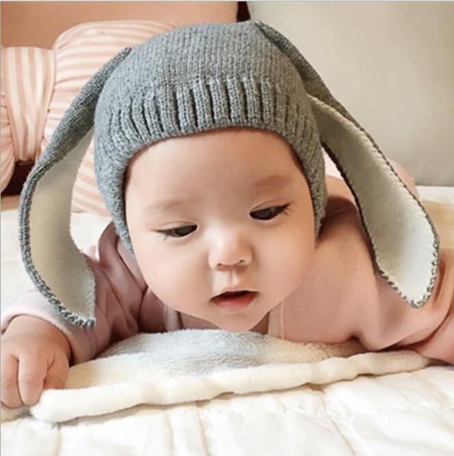 Hiver bébé lapin oreilles casquette chapeau chapeau chapeau chapeaux bébé chapeaux pour enfants 0-2T fille garçons chapeaux photographie accessoires nourrissons chaleureux bonnet