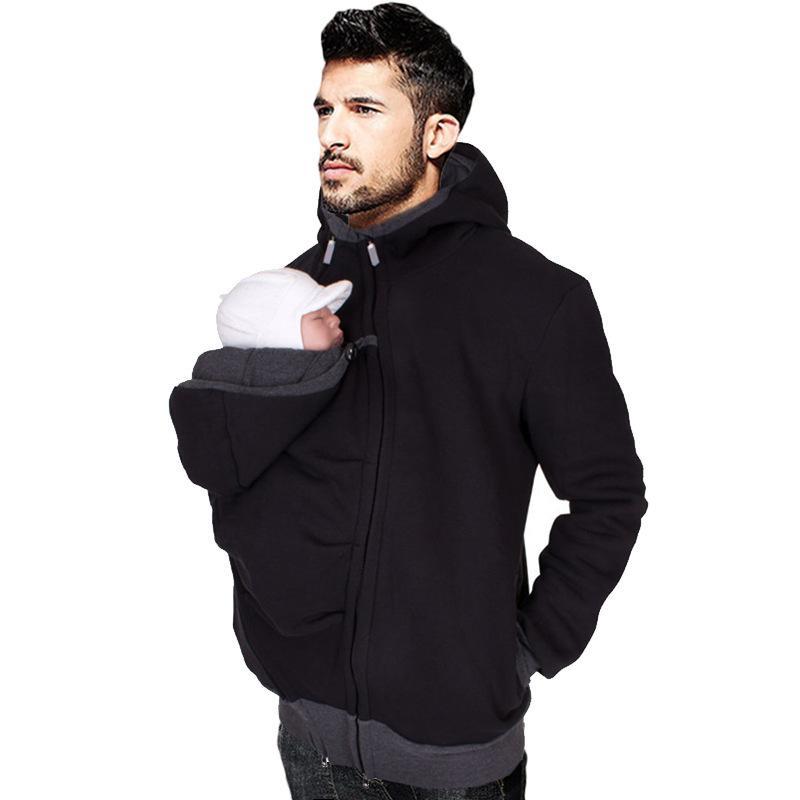 MRMT 2018  Men's Hoodie Sweatshirt Cardigan Men's Multi-function Kangaroo Dad Casual Jacket Clothing