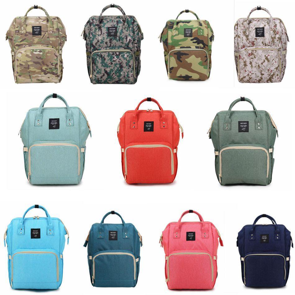 Mummy Maternidade Fralda Bag Grande Capacidade Bebê Travel Bag Backpack Desiger Enfermagem Bolsa para Baby Care sacos das fraldas 20 OOA2184