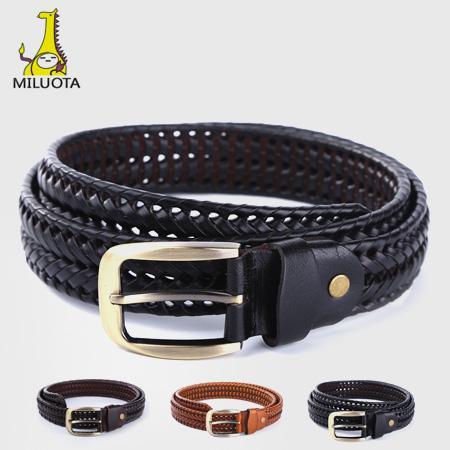 MILUOTA  Cinturones de hombre de lujo 100% cinturones de cuero genuino  para hombres bf6b815e4f0f