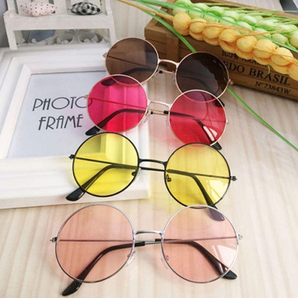 Frauen Mode Retro Runde Kunststoff Gläser Objektiv Sonnenbrille Brillen Rahmen BrillenFrauen Mode Retro Runde Kunststoff Laufwerk Schutzbrillen