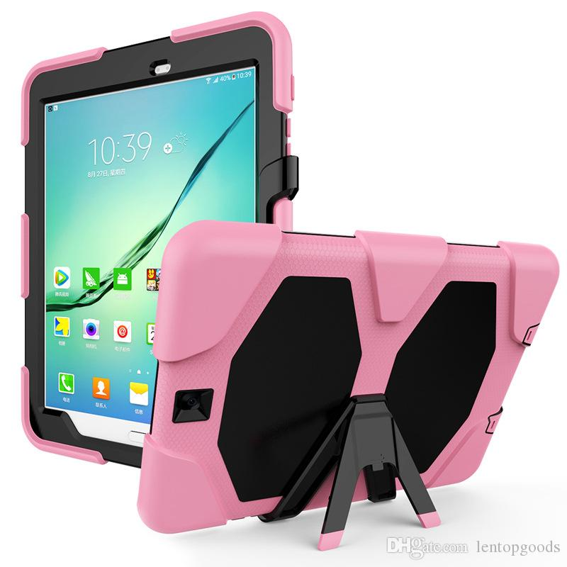 Silicone+TPU Hybrid Case Cover with Kickstand for Samsung Galaxy Tab S2 9.7 inch T810 T815 T813 T819 Tablet+Stylus