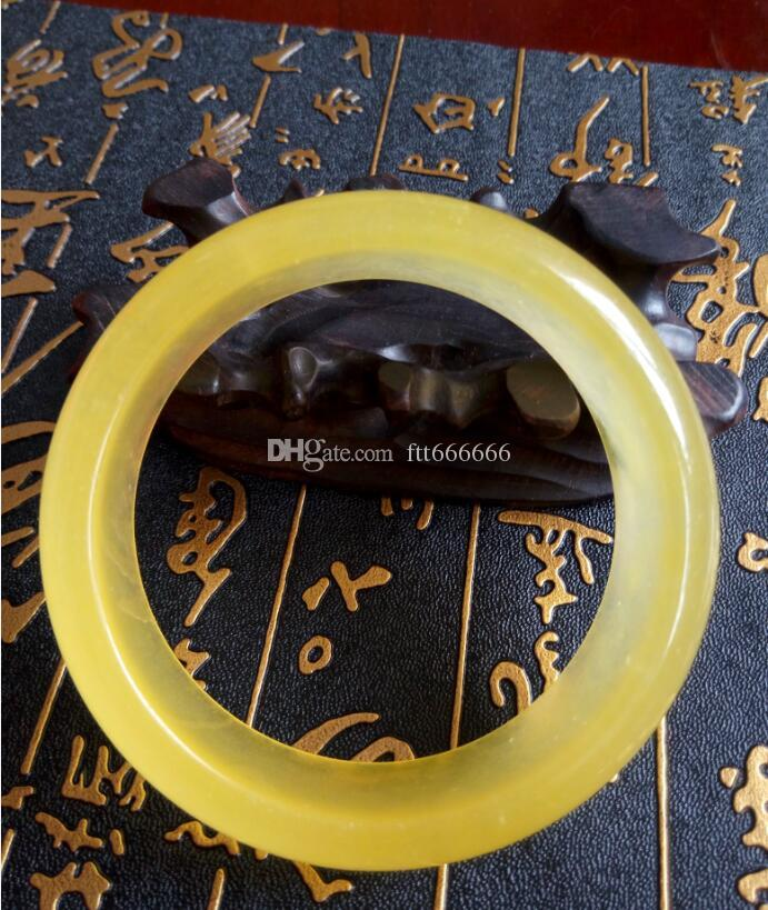 56-60mm Beautiful Fashion Natural chicken fat and Jade Bracelet Free Shipping