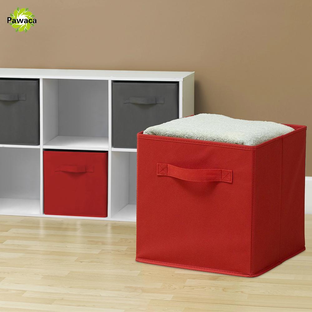 Cajas De Almacenamiento Plegable Plegable Casa Ropa Organizador Cubo De Tela Nuevo