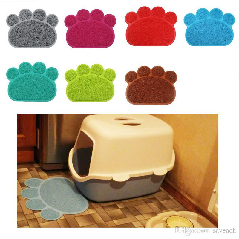باو طباعة الكلب القط القمامة حصيرة جرو كيتي صحن تغذية عاء تحديد الموقع صينية مرتبة سهلة التنظيف النوم وسادة 7 ألوان