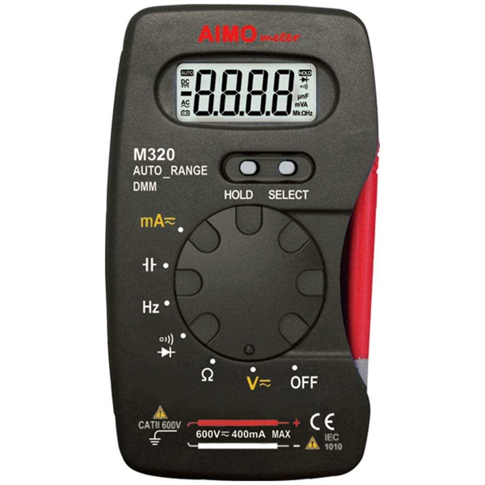 Freeshipping M320 Pocket size LCD Digital Multimeter DMM Frequency Capacitance current Resistance diode Measurer Data Hold Auto Range