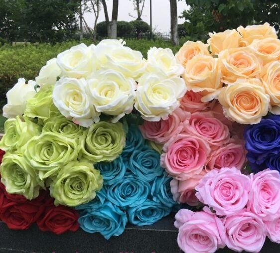 Rose Flower Bunch (9 Heads/Piece) Fake Roses Hydrangea for Wedding Bride Bouquet Artificiao Decorative Flowers