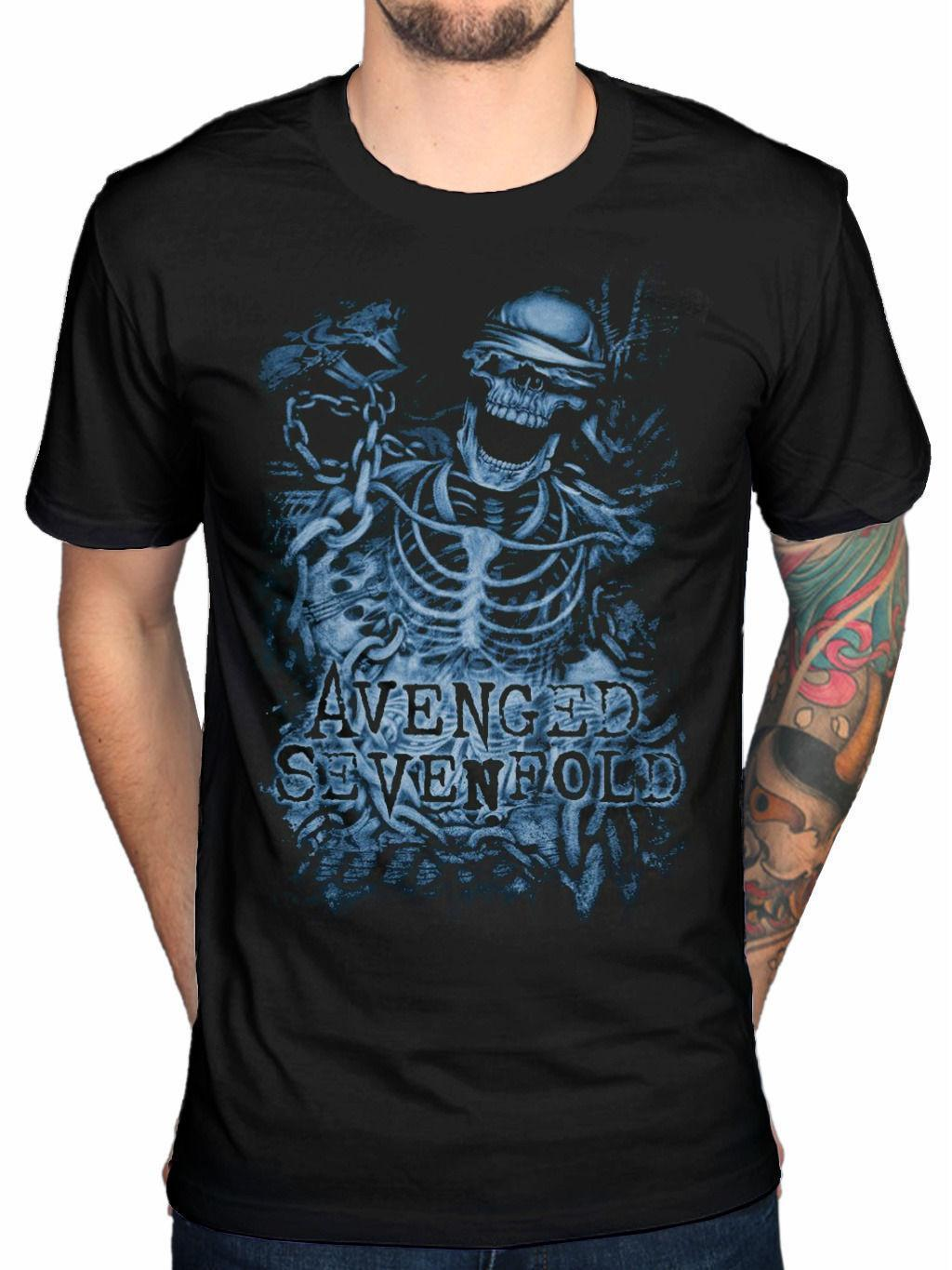 *NEW* OFFICIAL AVENGED SEVENFOLD CHAINED SKELETON T SHIRT LADIES S M L