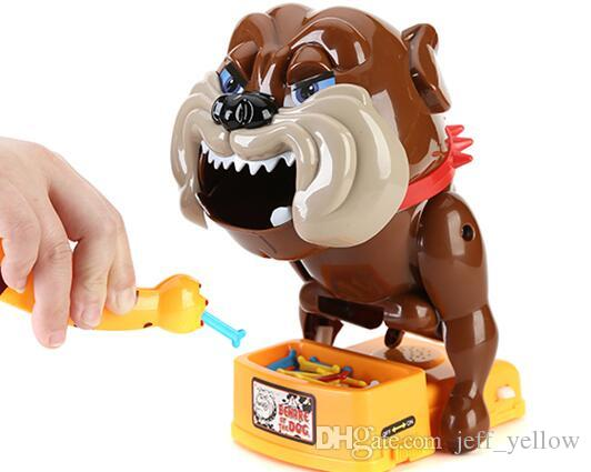 Free shipping Beware of evil dogs toys Stealing bones Tricky toy Send children game Clamping head Bite finger toy Creative toys