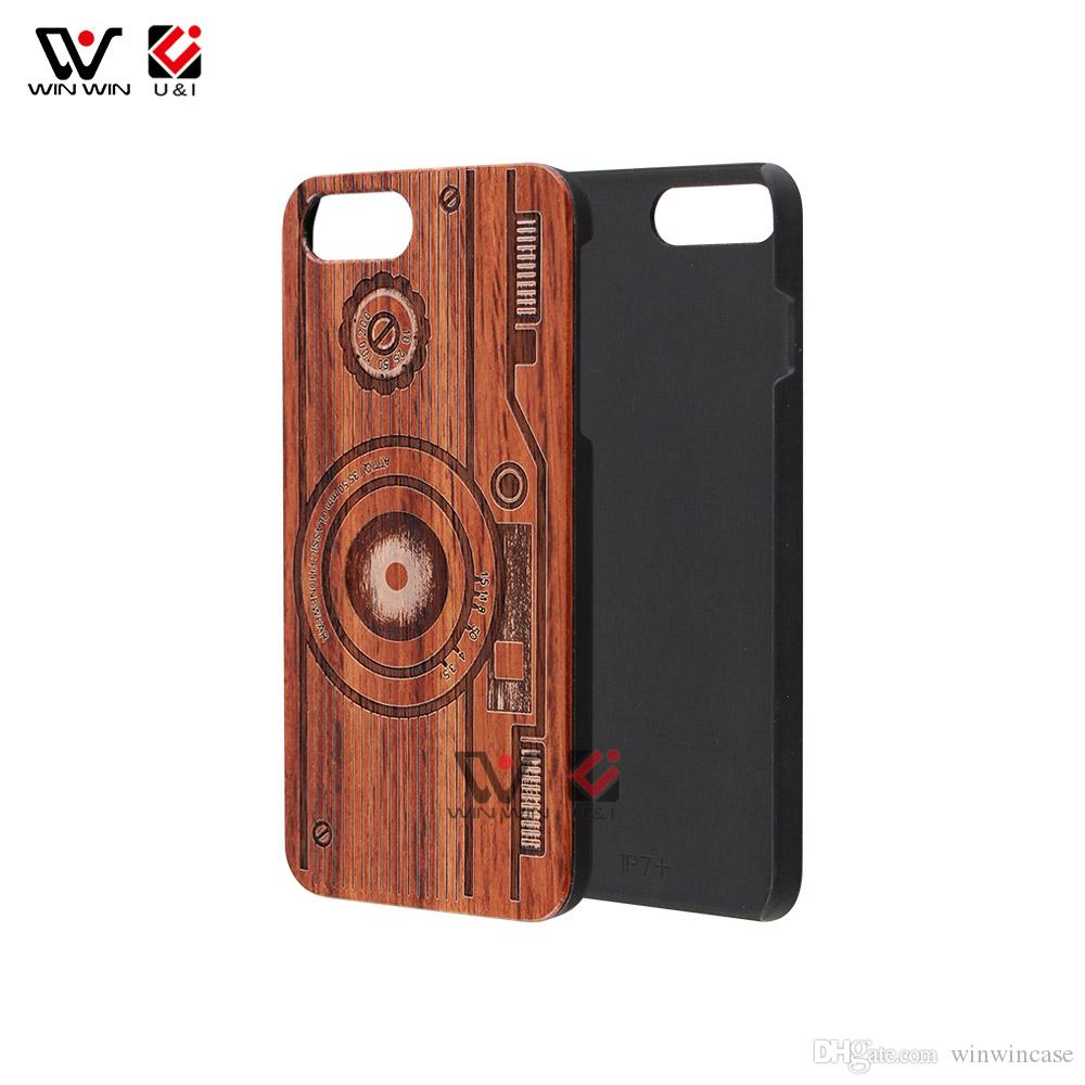 Full Mandala Laser Engrave Wood Cell Phone Cases For iPhone 6 7 8 X XR XS 11 Pro