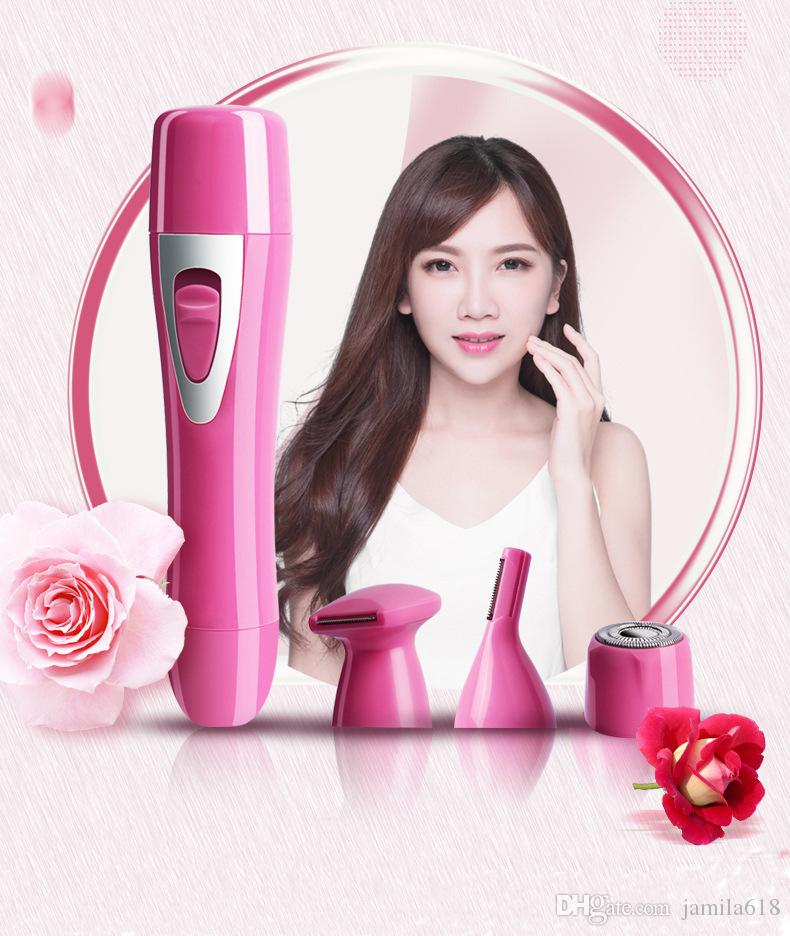 Rechargeable portable hair trimmer shaver hair removal epilator Women Mini Pocket Electric Facial Epilator Tools Painless Hair Remover