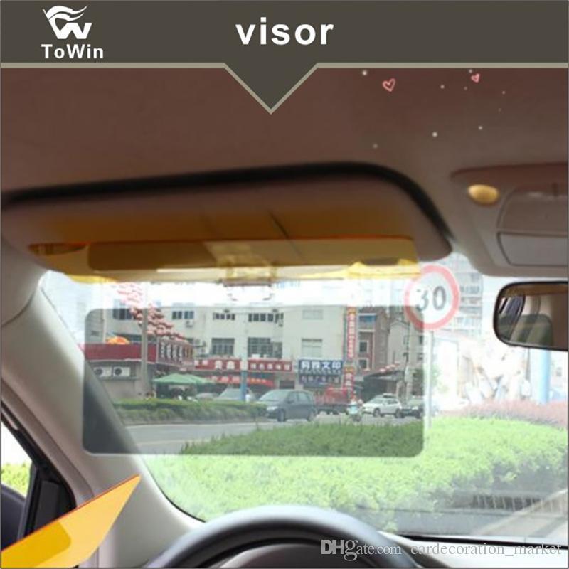 سيارة الشمس قناع 2 في 1 السيارات الشمس المضادة للأشعة فوق البنفسجية بلوك قناع زاوية قابلة للتعديل نظارات مرآة سيارة ليلا ونهارا المضادة للتوهج قناع
