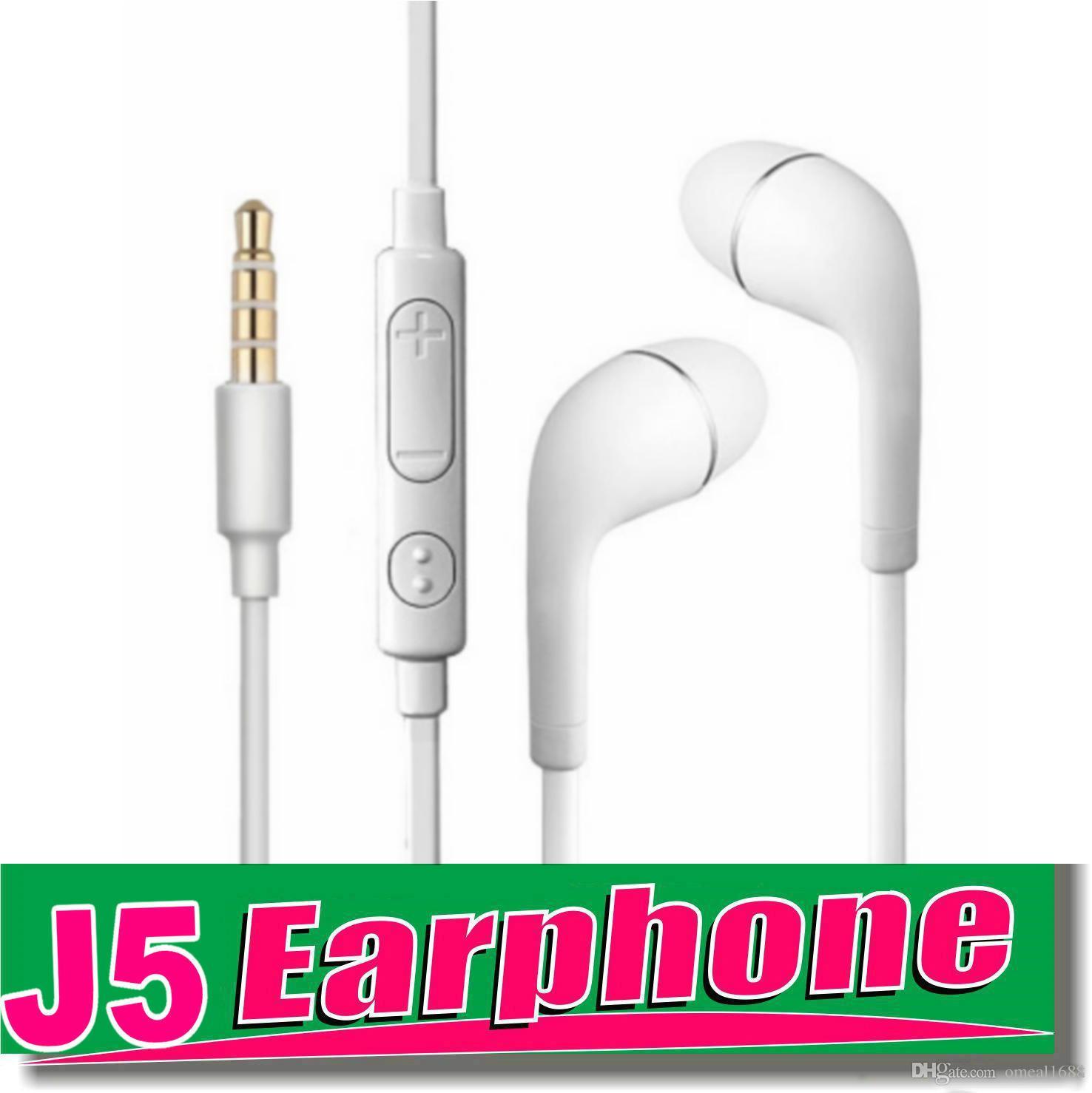 Auricolari cablati per Samsung S6 Auricolari in-ear da 3,5 mm Sport da corsa Auricolari con microfono Cuffie di controllo del volume con borsa OPP OM-T7