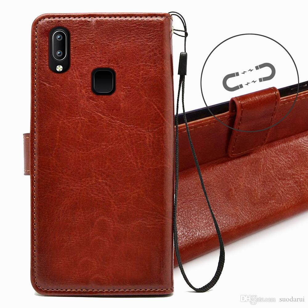 best website 81611 9c525 Flip Leather Case For Vivo Y95 TPU + PU Leather Magnetic Book Wallet Cover  Pouch With Lanyard Cell Phone Cases Covers Cell Phone Case Covers From ...