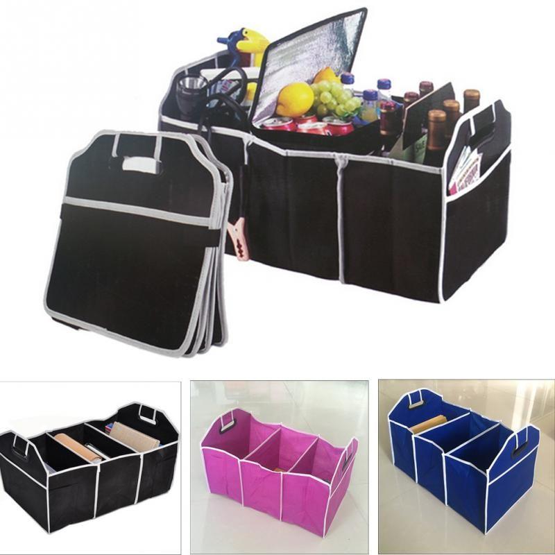 2018 Samochód Auto Wodoodporny Składany Czarny Car Boot Organizator Torba do przechowywania Protable Auto Storage Box Multi-użytkowy Narzędzia Organizator