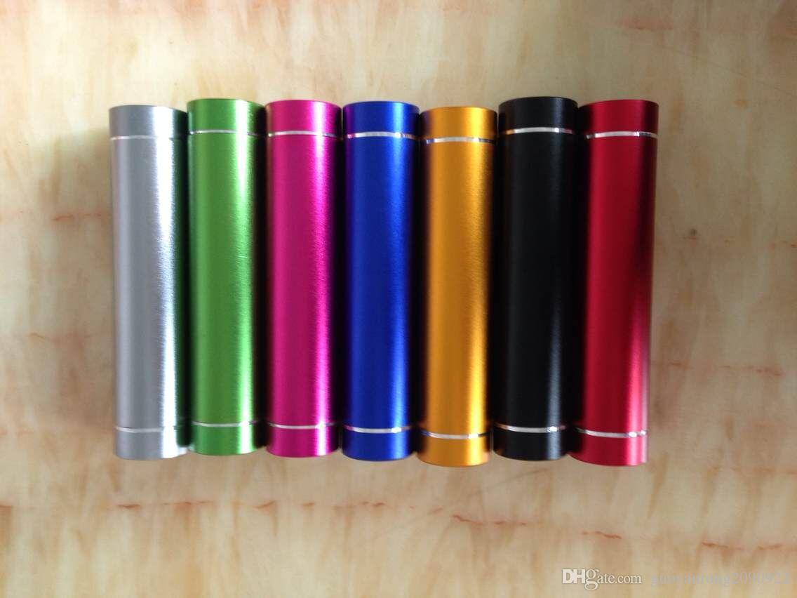 Güç Banka Evrensel 2600 mAh Taşınabilir Silindir USB Mobil powerbank Harici Yedekleme Pil Şarj iPhone Samsung için Acil Güç Paketi