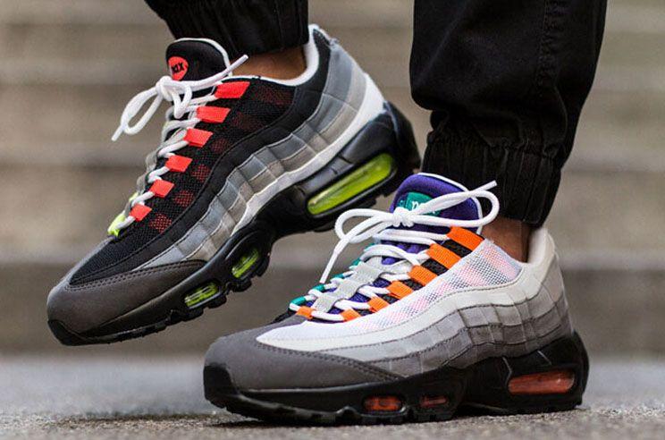 2018 New Cheap Mens sport 95 scarpe da corsa, Premium OG Neon Cool Grey scarpe sportive sneakers taglia 40-46