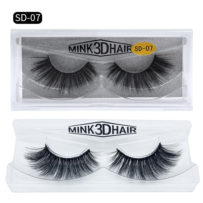 Thick Mink Hair 3D False Eyelashes Natural Long Fake Lashes Handmade 16 styles available makeup accessories for Eyes DHL YL003
