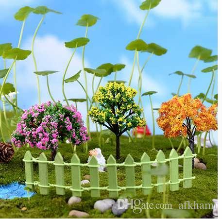 Mini Tree Plants Miniature Fairy DIY House Dollhouse Garden Micro Bonsai Decor